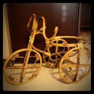Other - Vintage Ratan Tricycle Planter